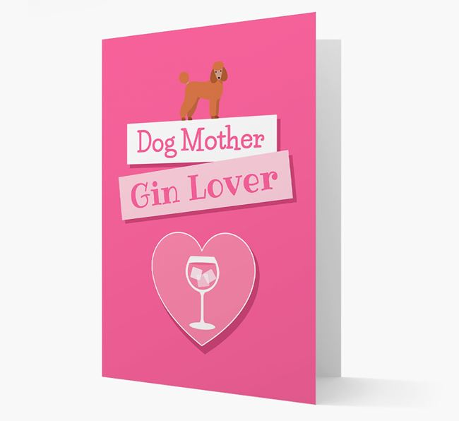'Gin Lover' Card with your Poodle Icon