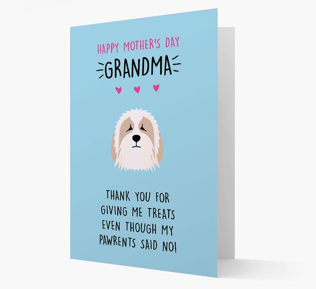 'Happy Mother's Day Grandma' Card with your Bearded Collie Icon