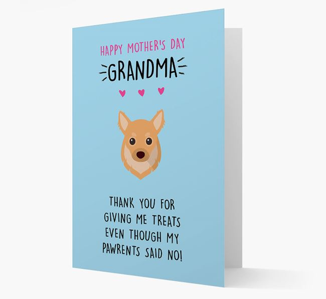 'Happy Mother's Day Grandma' Card with your Chihuahua Icon