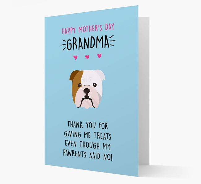 'Happy Mother's Day Grandma' Card with your English Bulldog Icon