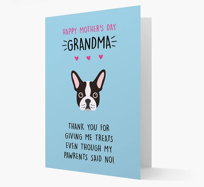 'Happy Mother's Day Grandma' Card with your French Bulldog Icon