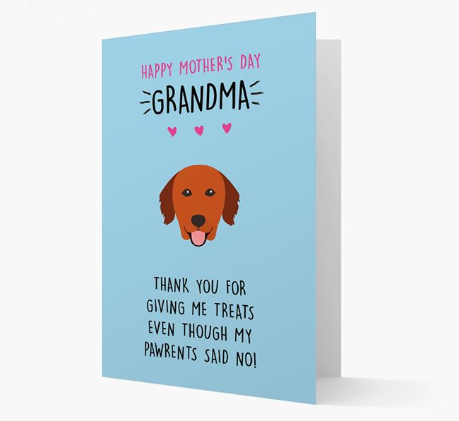 'Happy Mother's Day Grandma' Card with your Golden Retriever Icon
