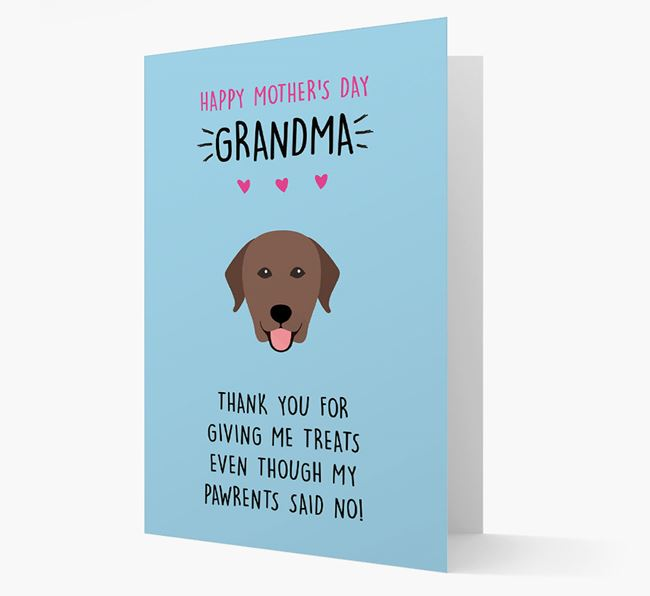 'Happy Mother's Day Grandma' Card with your Labrador Retriever Icon