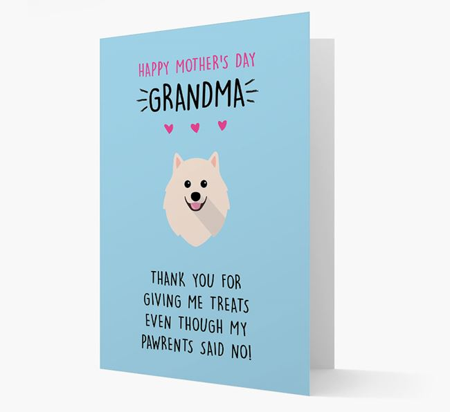 'Happy Mother's Day Grandma' Card with your Pomeranian Icon