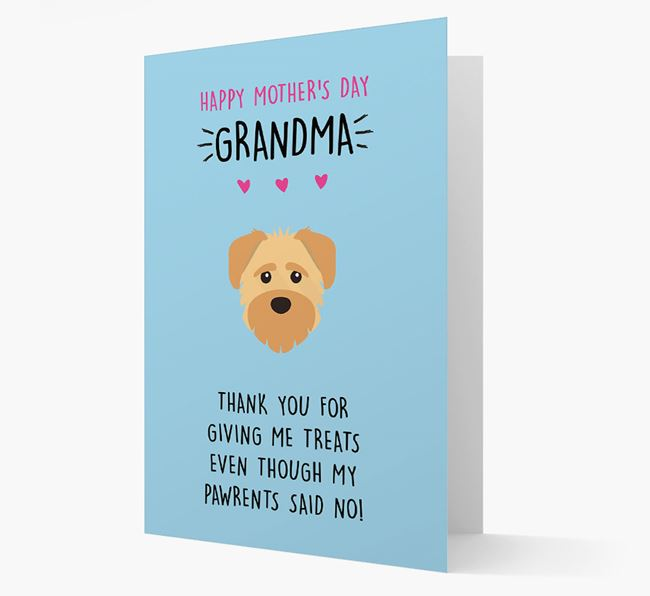 'Happy Mother's Day Grandma' Card with your Schnoodle Icon