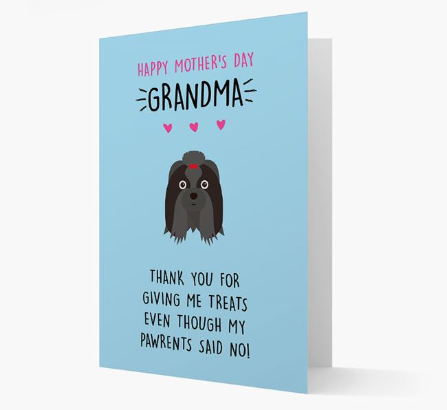 'Happy Mother's Day Grandma' Card with your Shih Tzu Icon