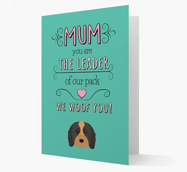 'The Leader Of Our Pack' Card with your Cavapoo Icon