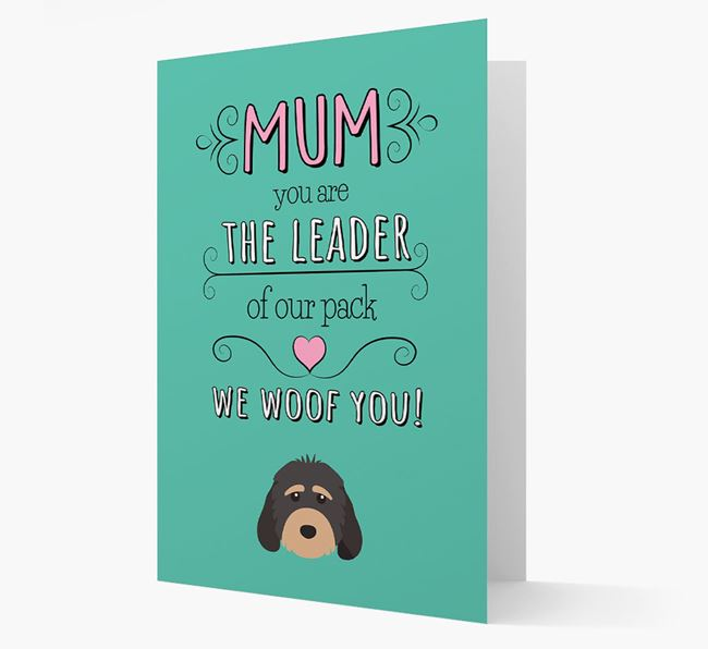 'The Leader Of Our Pack' Card with your Cockapoo Icon