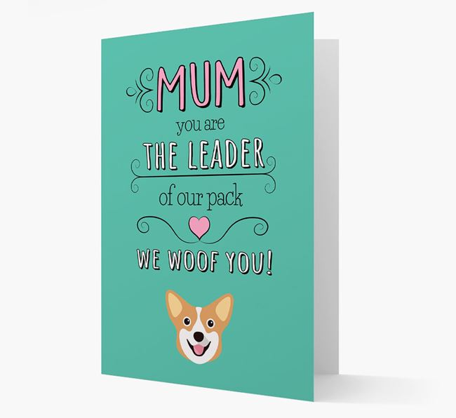 'The Leader Of Our Pack' Card with your Corgi Icon