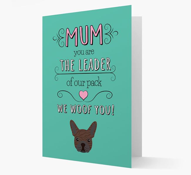 'The Leader Of Our Pack' Card with your French Bulldog Icon