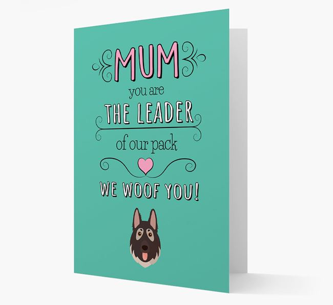 'The Leader Of Our Pack' Card with your German Shepherd Icon