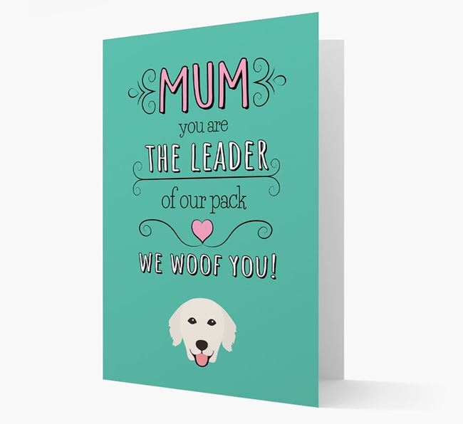 'The Leader Of Our Pack' Card with your Golden Retriever Icon