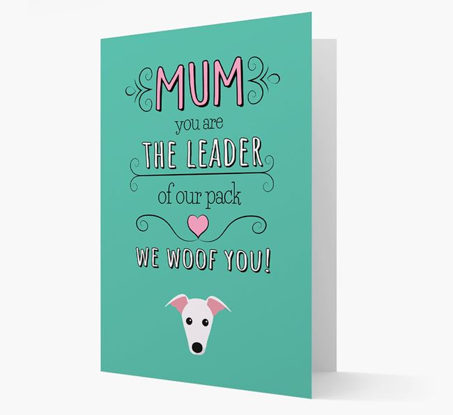 'The Leader Of Our Pack' Card with your Greyhound Icon