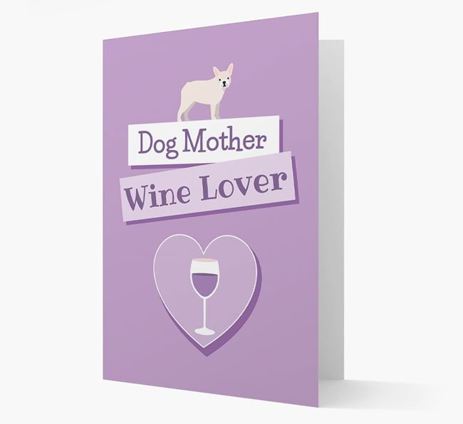 'Wine Lover' Card with your French Bulldog Icon