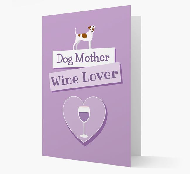 'Wine Lover' Card with your Dog Icon