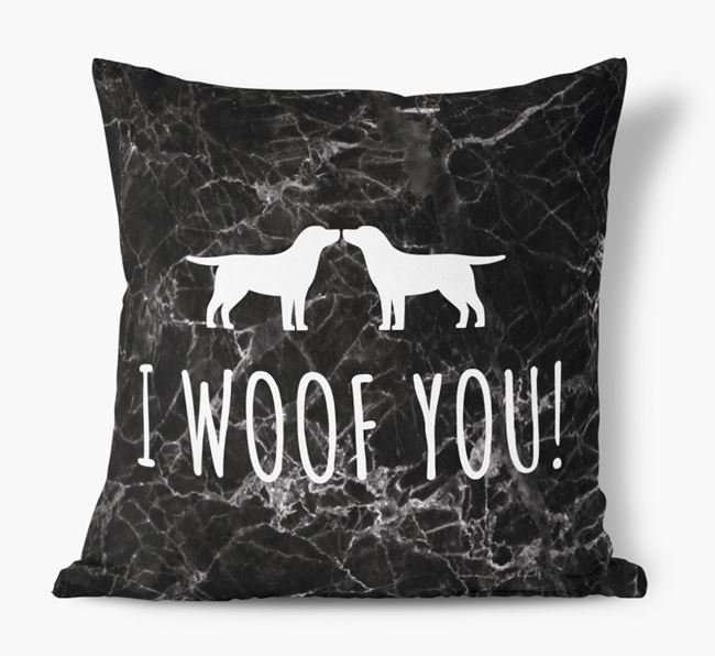 Springador I Woof You Faux Suede Cushion