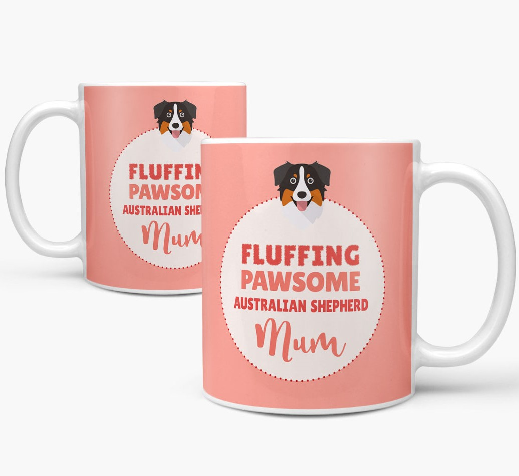 Australian Shepherd Mug both views