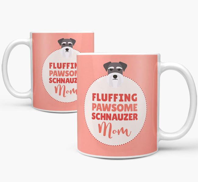 'Fluffing Pawsome Dog Mom' Mug