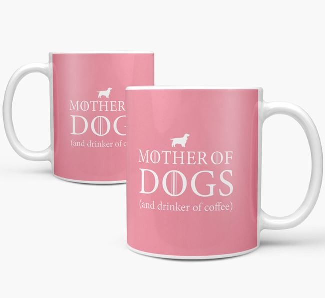 'Mother of Dogs' Mug with Cocker Spaniel Silhouette