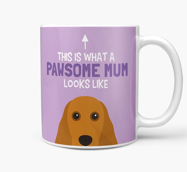 'Pawsome Dog Mum' Mug with Cocker Spaniel Icon