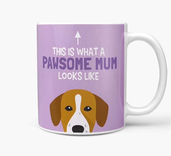 'Pawsome Dog Mum' Mug with Springador Icon