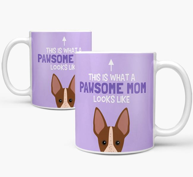 'Pawsome Dog Mom' Mug with American Hairless Terrier Icon