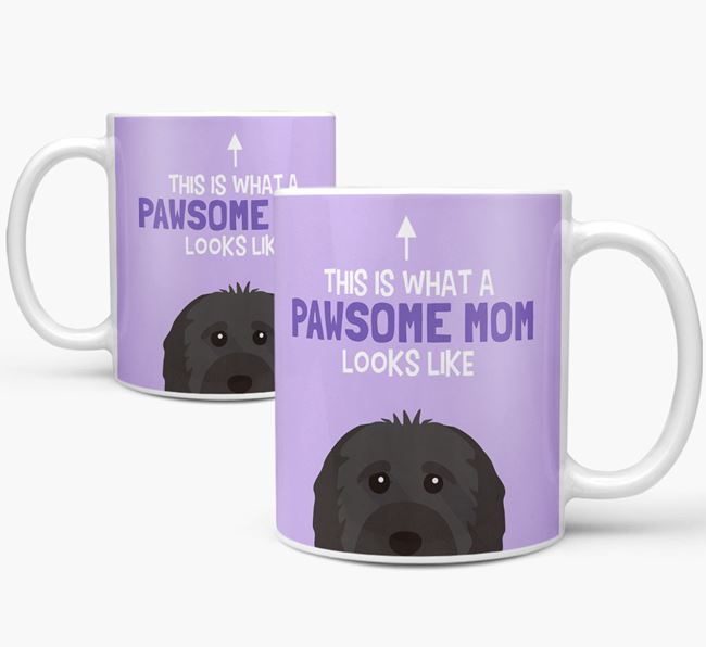 'Pawsome Dog Mom' Mug with Cavapoo Icon