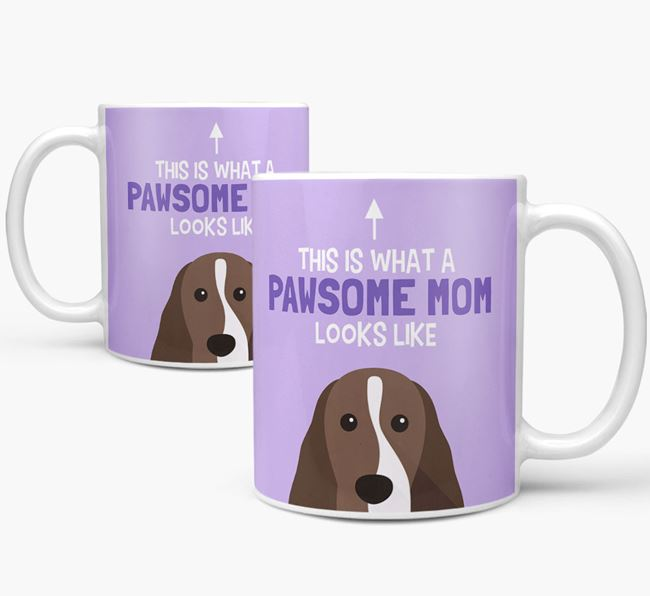 'Pawsome Dog Mom' Mug with Cocker Spaniel Icon
