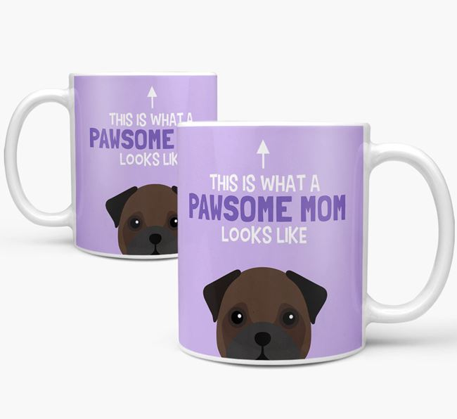 'Pawsome Dog Mom' Mug with Frug Icon