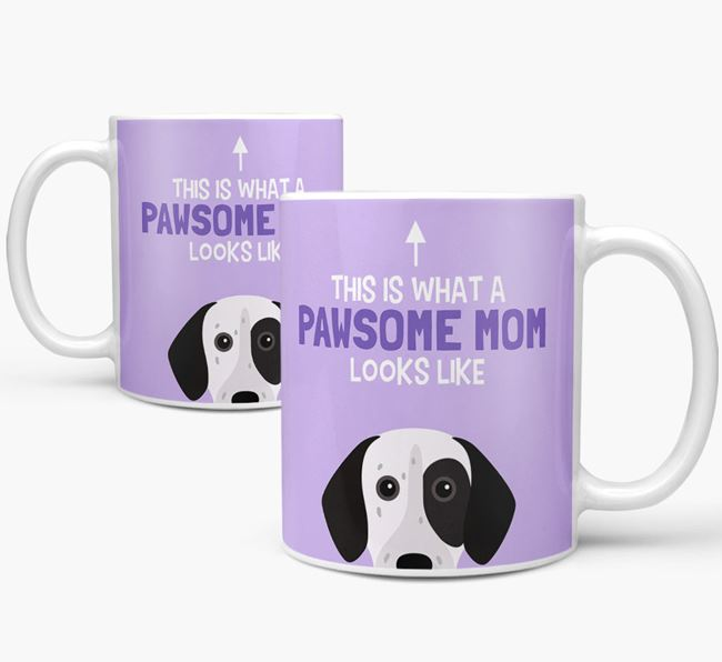 'Pawsome Dog Mom' Mug with German Shorthaired Pointer Icon