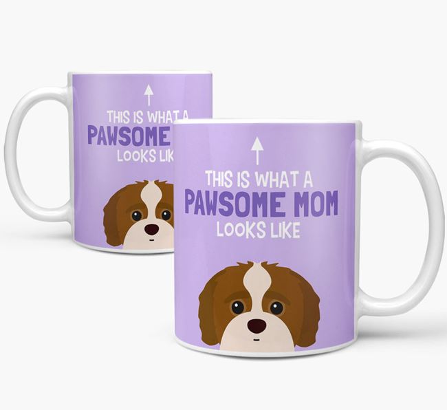 'Pawsome Dog Mom' Mug with Jack-A-Poo Icon