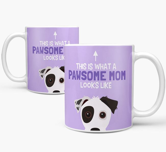 'Pawsome Dog Mom' Mug with Jack Russell Terrier Icon