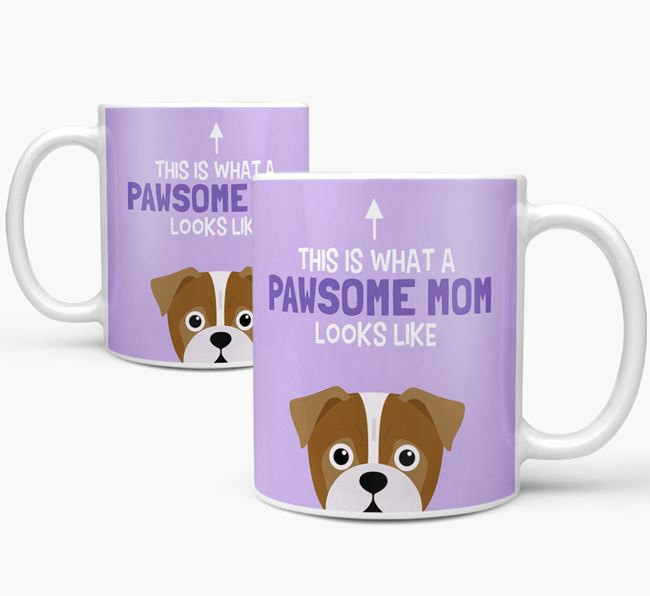 'Pawsome Dog Mom' Mug with Jug Icon