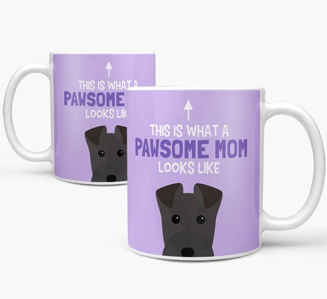 'Pawsome Dog Mom' Mug with Lakeland Terrier Icon