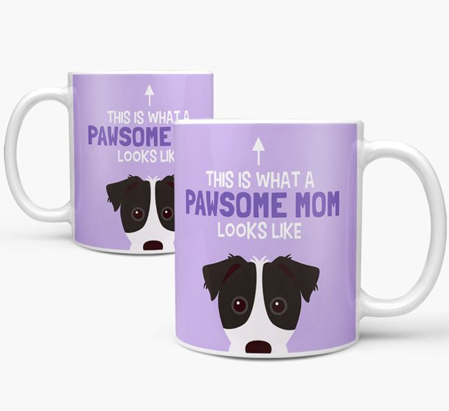 'Pawsome Dog Mom' Mug with Parson Russell Terrier Icon