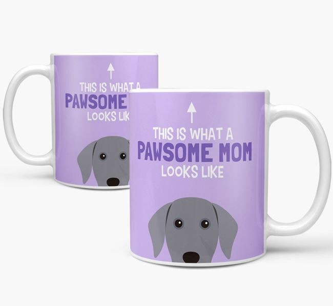 'Pawsome Dog Mom' Mug with Dog Icon