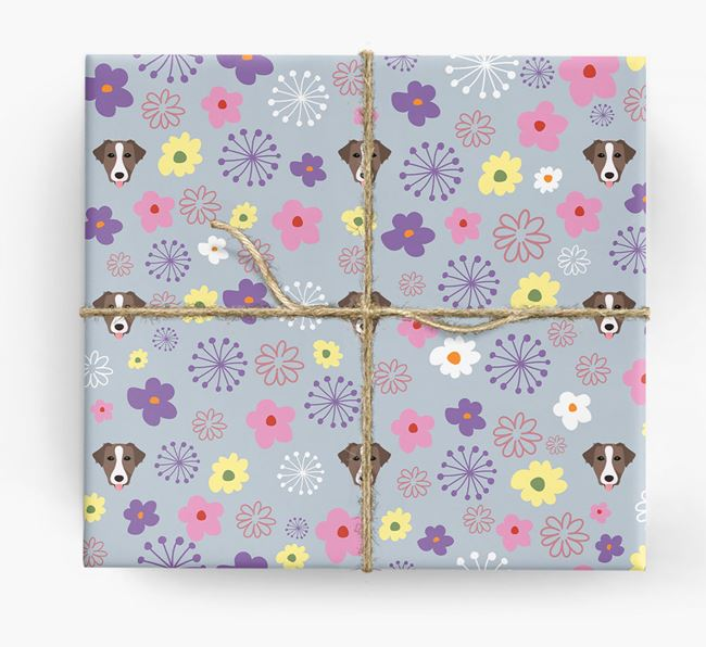 Floral Wrapping Paper with Borador Icons