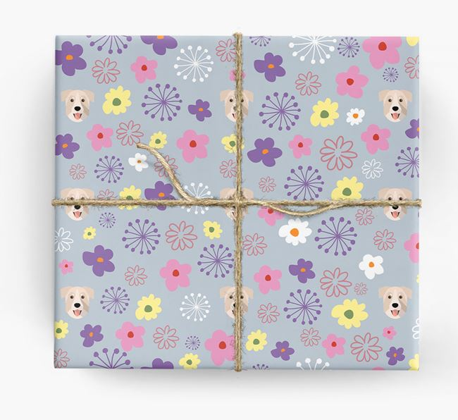 Floral Wrapping Paper with Chinook Icons