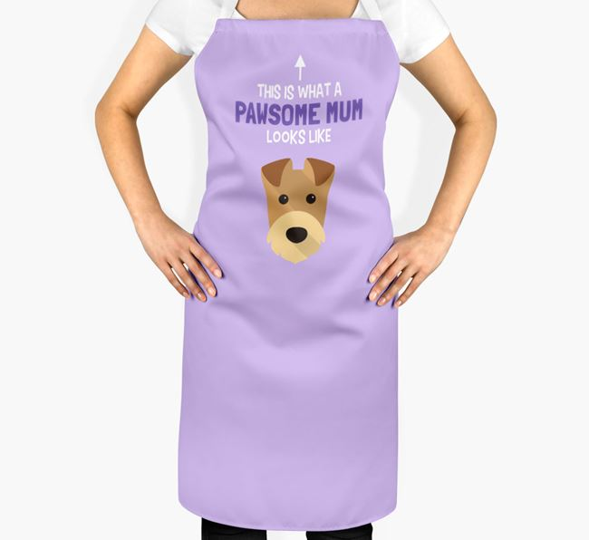 'Pawsome Mum' Apron with Airedale Terrier Icon