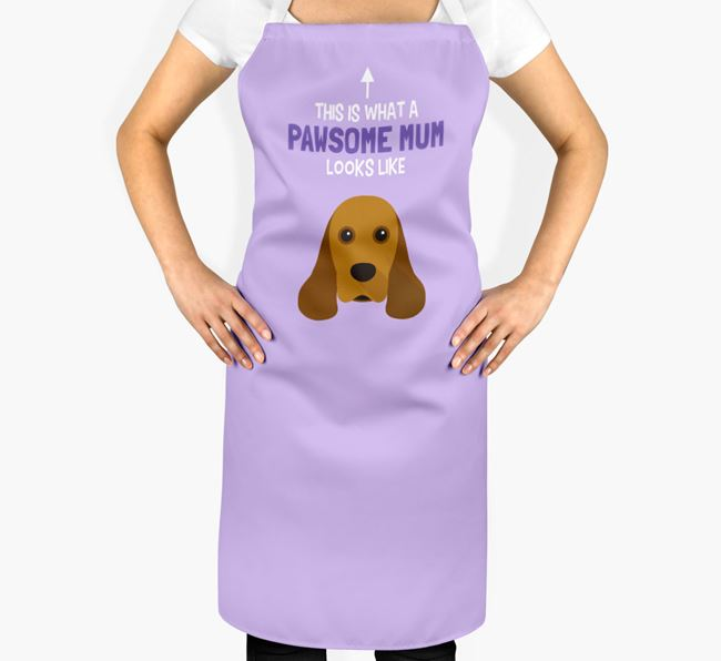 'Pawsome Mum' Apron with American Cocker Spaniel Icon