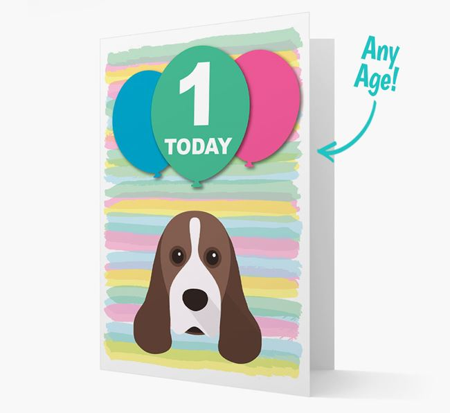 Ages 1-18 Birthday Card with American Cocker Spaniel Yappicon