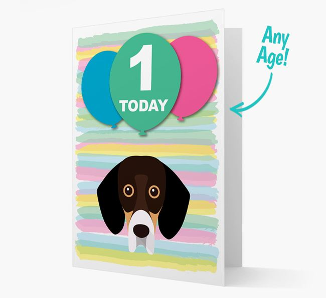 Ages 1-18 Birthday Card with Bassador Yappicon