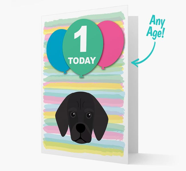 Ages 1-18 Birthday Card with Bassugg Yappicon