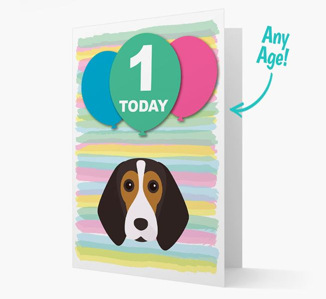 Ages 1-18 Birthday Card with Beagle Yappicon
