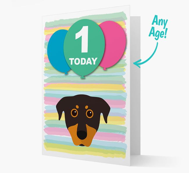 Ages 1-18 Birthday Card with Beauceron Yappicon