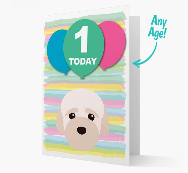Ages 1-18 Birthday Card with Bich-poo Yappicon