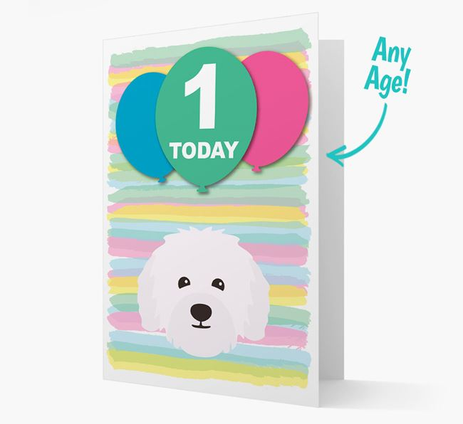 Ages 1-18 Birthday Card with Bolognese Yappicon