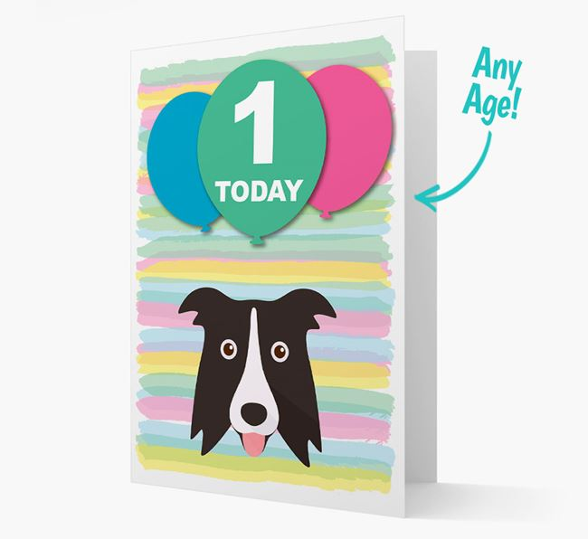 Ages 1-18 Birthday Card with Dog Yappicon
