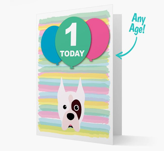 Ages 1-18 Birthday Card with Boxer Yappicon
