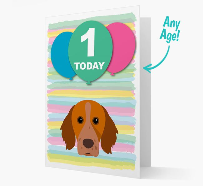 Ages 1-18 Birthday Card with Brittany Yappicon